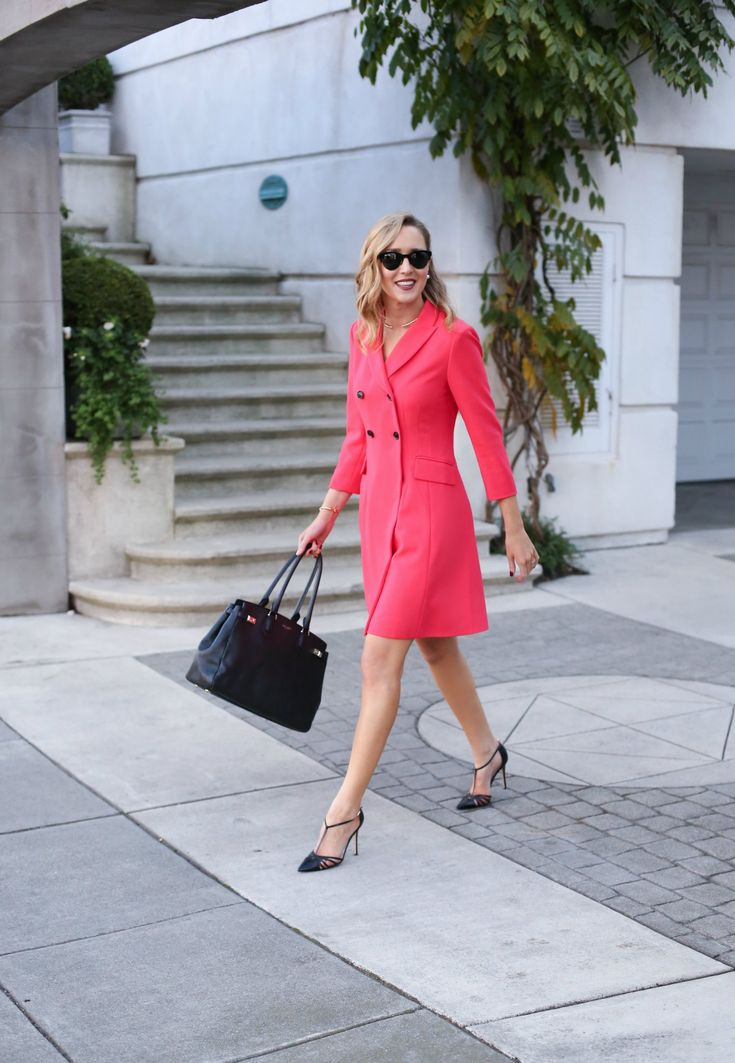 2 red double breasted suit dress working women work style office attire business fashion style blog mary orton memorandum san francisco sf