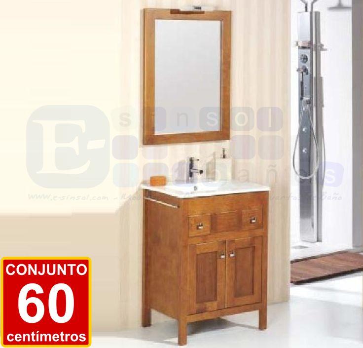 Baño Estilo Colonial:PONIENTE 60 cm Un pequeño conjunto de baño de estilo colonial
