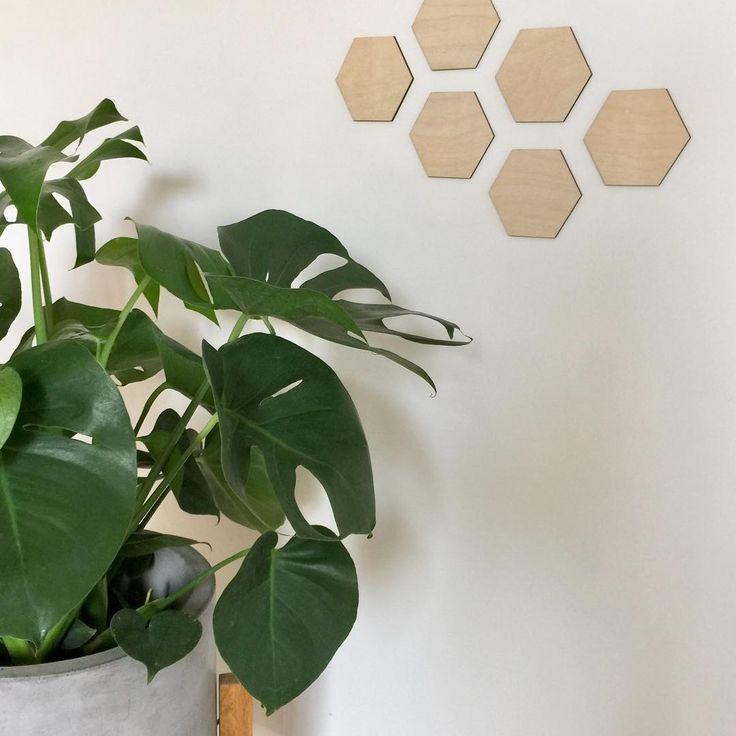 Hexagones en bois - MIXO - style scandinave - déco murale | Wood Hexagons - MIXO - scandinavian style - wall decoration
