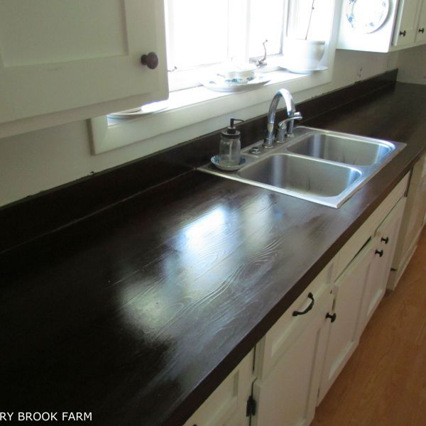 HOW TO MAKE LAMINATE COUNTERTOPS LOOK LIKE WOOD