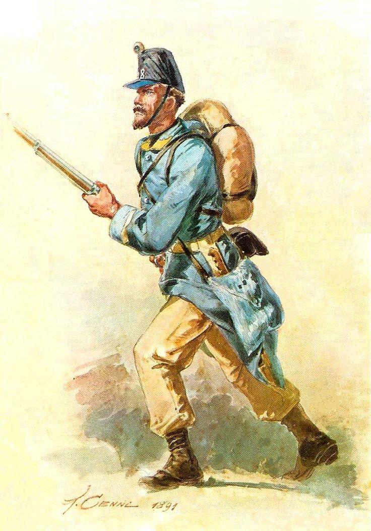 Italian (Sardinian) infantry, 1859