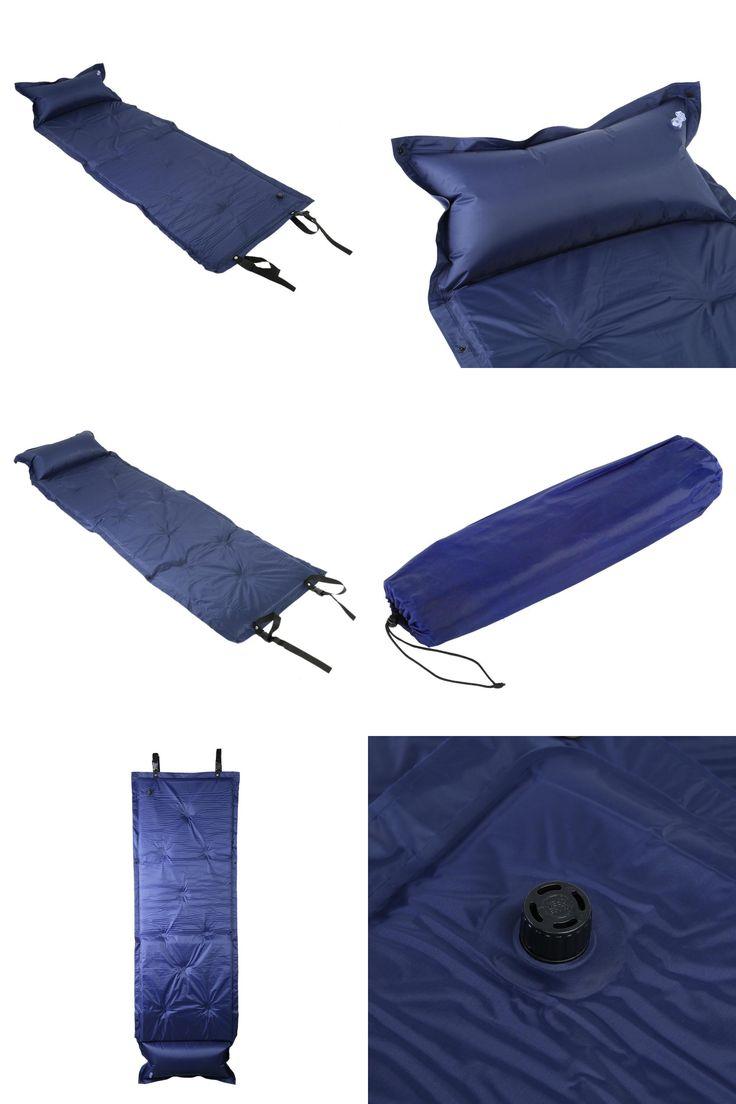 [Visit to Buy] Free Shipping Camping Mat Inflated Sleeping Pad Camping Air Mattress Portable Folding Beach Mat Self Inflating Camping Mattress #Advertisement