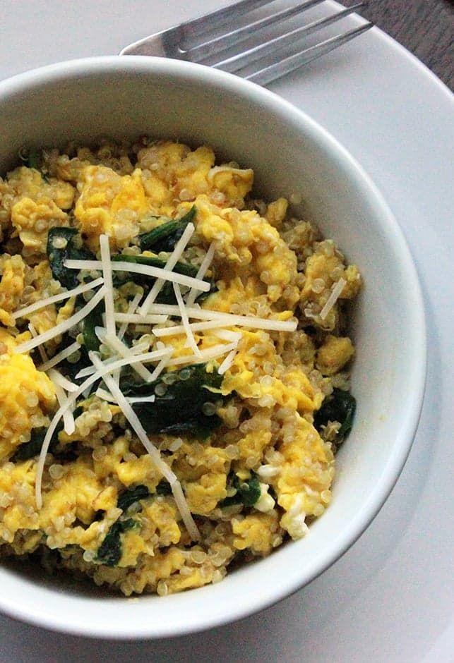 Pin for Later: Protein-Rich Breakfast: Spinach Quinoa Scramble
