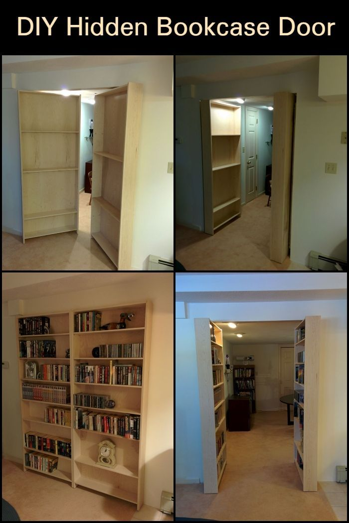 Diy Hidden Bookcase Door Diy Fix Bookcase Door Bookcase