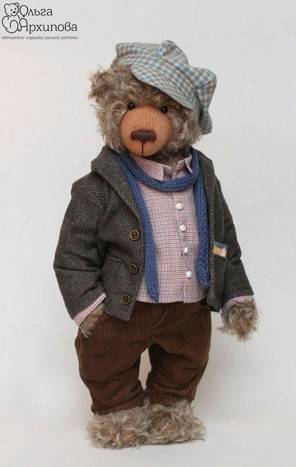 Hello Teddy 2015 Мишка писатель - авторский мишка тедди из мохера в одежде (выставка Хеллоу Тедди, ХТ2015)