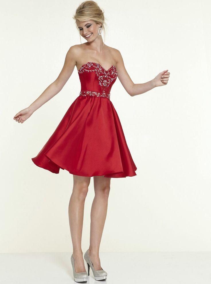 2015 New Design Robe De Coctel Beading Crystal Sweetheart Mini Ball Gown Satin Vestido De Festa Curto Free Shipping AO65