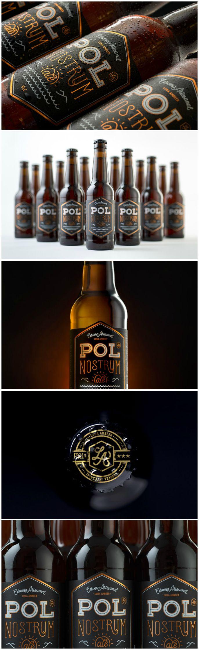 Packaging Design for Valencian, Spanish Artisan Craft Beer  Design Agency:Pixelarte - Diseño & Creatividad Brand / Project Name:Pol Nostrum Ale Location:Spain Category: #beer #drink