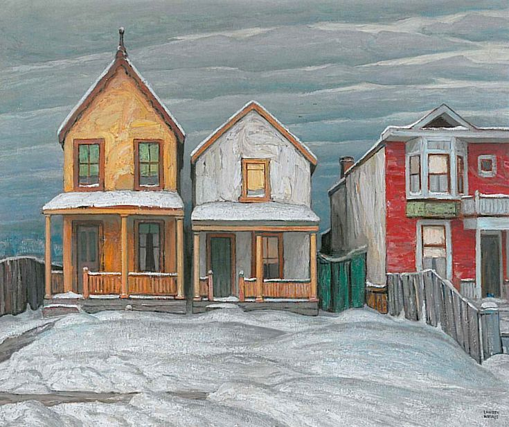 ''Houses, Winter, City Painting V'' by Lawren Harris