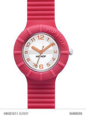 Hip Hop Numbers Orologio Da Polso Cassa 32 mm Glossy (Pink) HWU0167