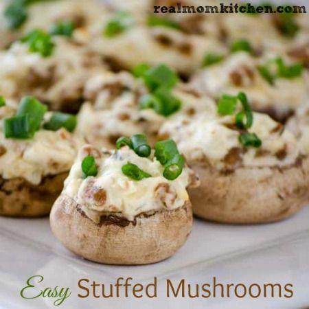 , Easy Stuffed Mushrooms, Stuffed Mushrooms Recipe, Food Sid, Stuffed ...