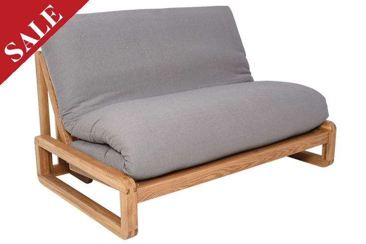 Home :: Sofa Beds :: Double Sofa Beds (2 Seaters) :: Loop - 2 Seater Solid Oak Double Sofa Bed
