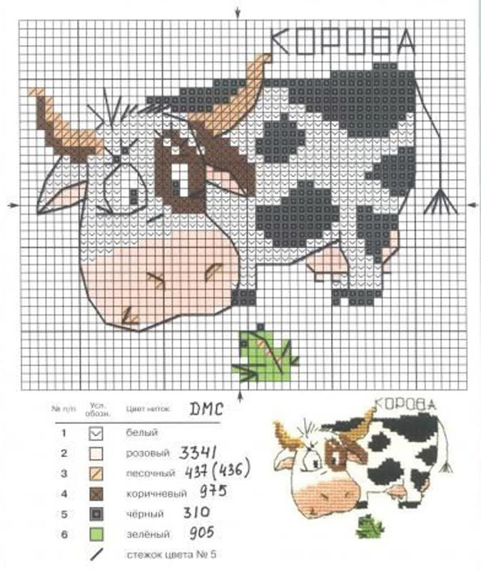 Cross-stitch Cow