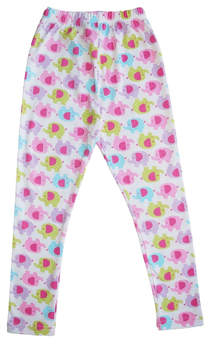 Girls Pink Green and Blue Elephant Leggings. $13.95. Check out our complete range of girls leggings at www.duckids.com.au