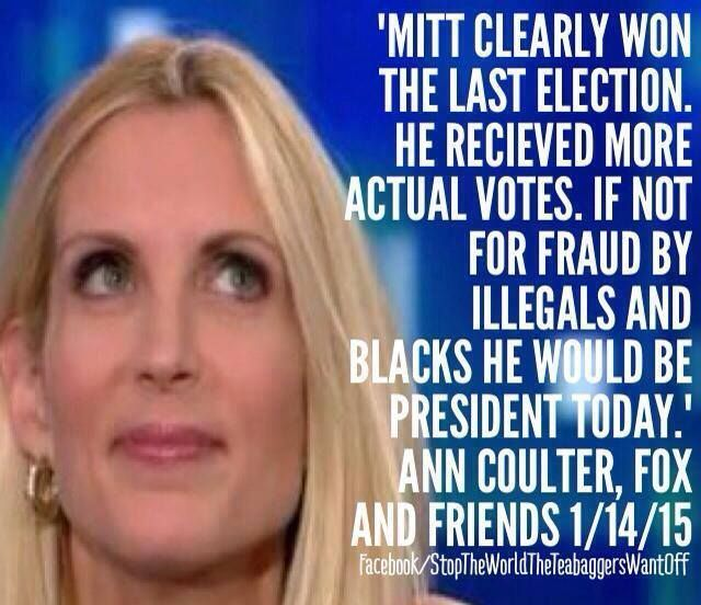 Vile racist both Ann coulter is a trump supporter