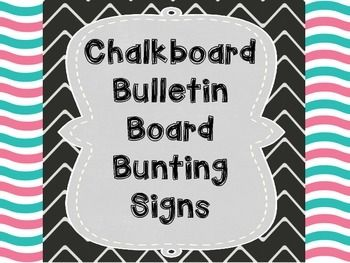 Chalkboard letters and signs
