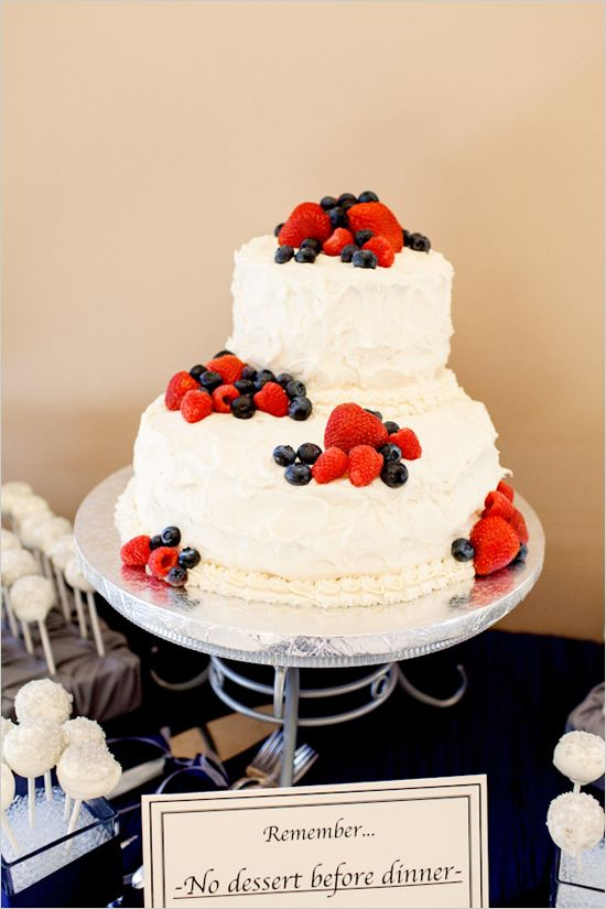 strawberry and blueberry cake from Bianchis Bake Shop