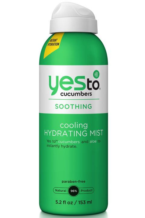 You'll want three of these soothing, spa water-like mists: One for your desk, one for the gym and another for the beach.   Yes to Cucumbers Cooling Hydrating Mist, $11, http://target.com.