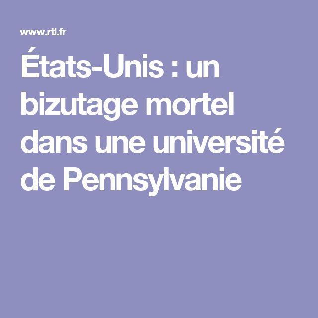 États-Unis : un bizutage mortel dans une université de Pennsylvanie