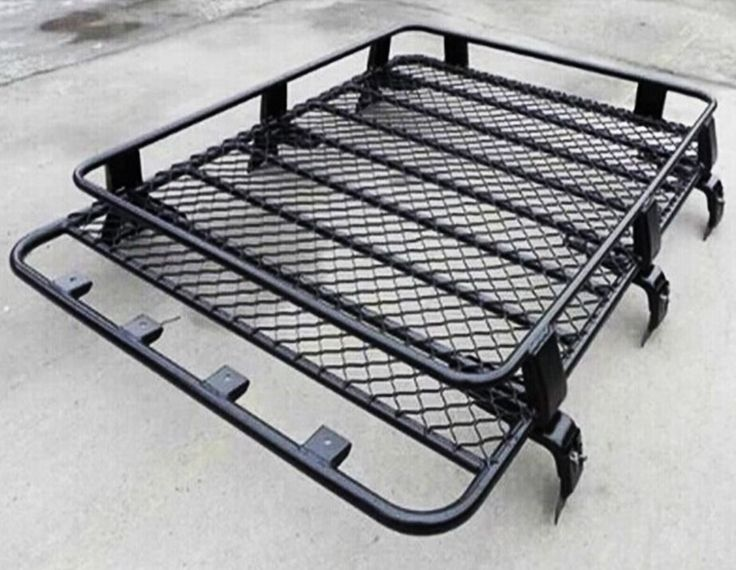 Transit Van Steel ROOF RACK TRAY TOP Black 4X4 CARGO LUGGAGE BASKET carrier RR/V | eBay