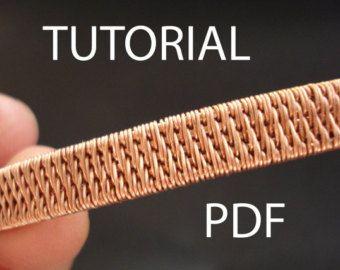 Earrings tutorial wire wrap tutorial copper wire by MargosHandmade