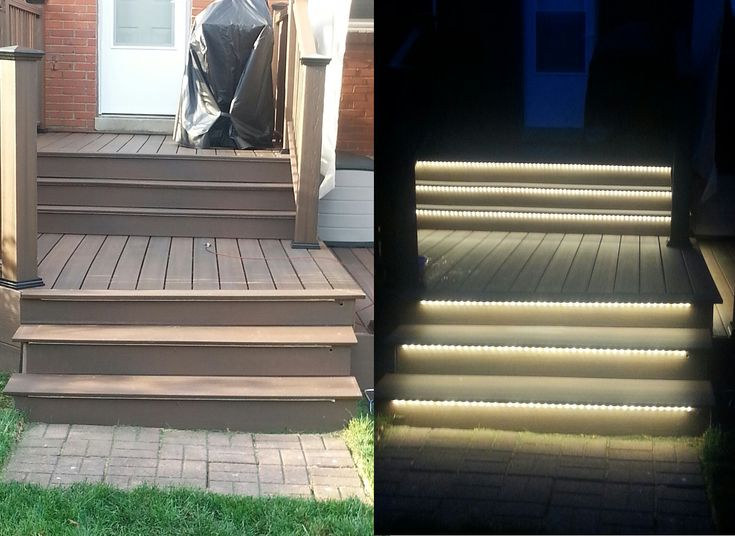accent lighting outdoor stairs led