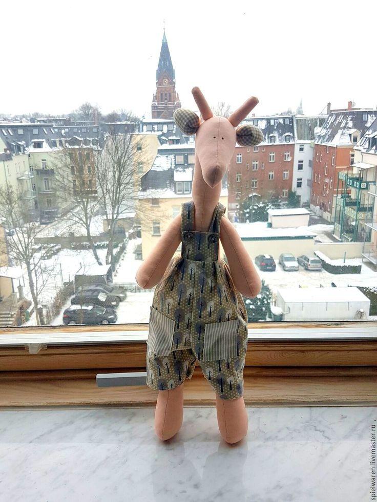Купить Жирафик в стиле Тильда - оранжевый, жираф, жирафик, жираф тильда, тильда жираф