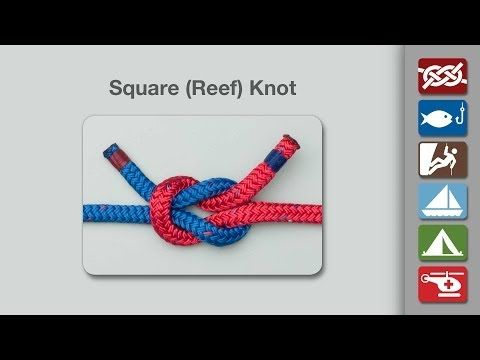 Square Knot (Reef Knot) | How to tie the Square Knot (Reef Knot) | Basics Knots for girls bow headbands
