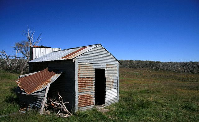 Lankey Plains hut at the northern end of the Dargo High Plains, Vic.