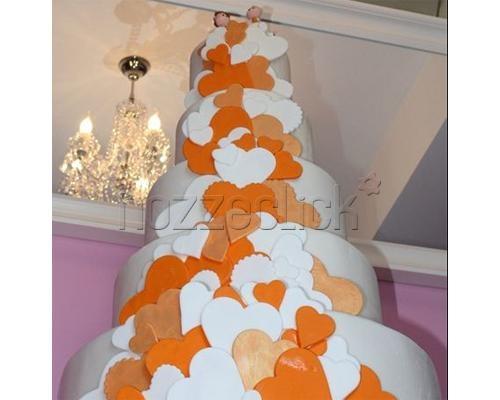 TORTA CON CUORI ARANCIO a Torte Artistiche di Irene Gabellone  #nozze #torta #matrimonio