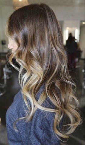 Sara Sánchez : Inspiración cabellos castaños-rubios Ondulados