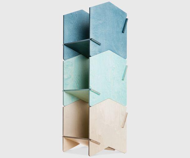 Chevron Shelving by Henry Wilson for NOMI Furniture, Australia. // full customisable modern design