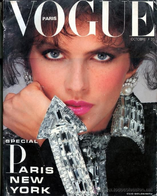 VOGUE Paris October 1983 - Clio Goldsmith -