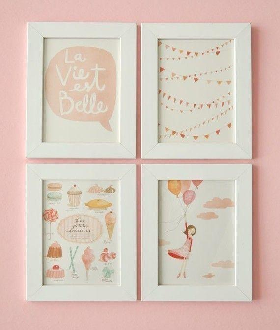 adorable artwork for a girls room...