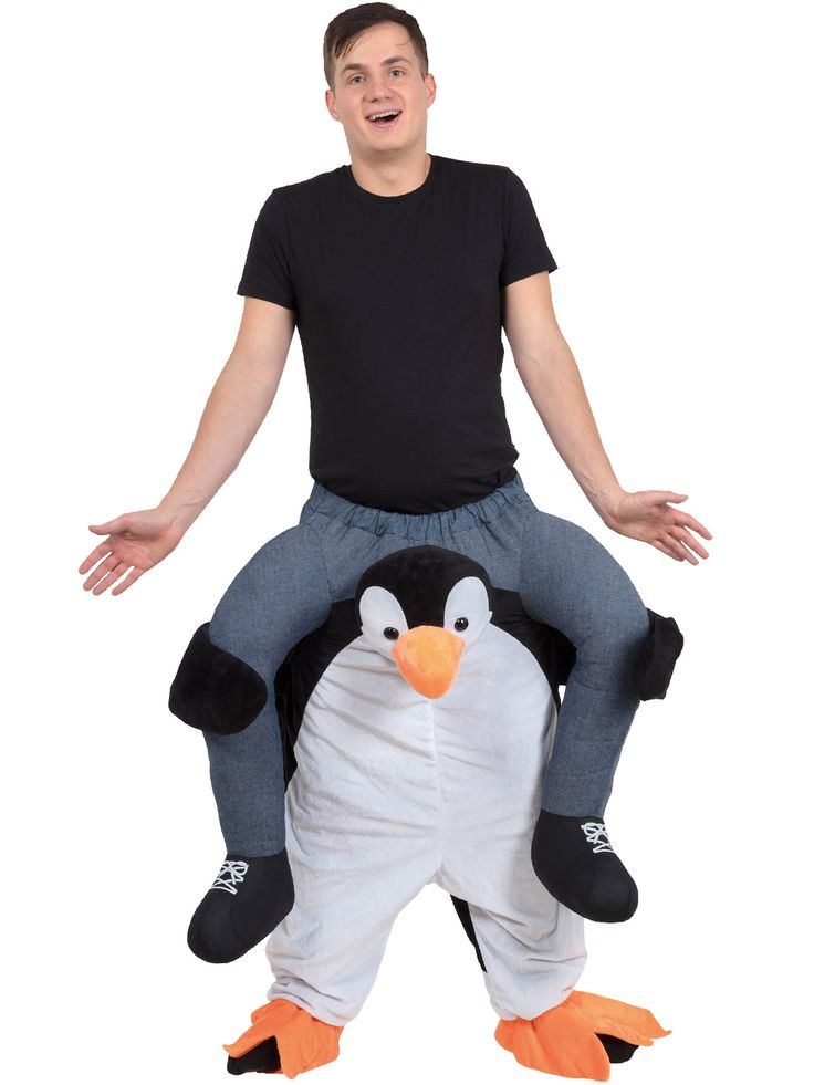 Adult's Penguin Piggy Back Costume | Animal | Fancy Dress Hub