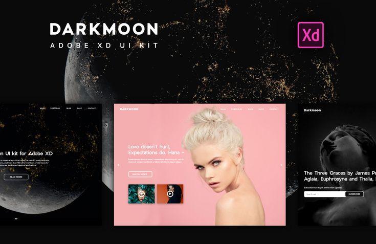 次の @Behance プロジェクトを見る : 「UI & UX Design. Darkmoon UI Kit for Adobe XD」 https://www.behance.net/gallery/49574735/UI-UX-Design-Darkmoon-UI-Kit-for-Adobe-XD