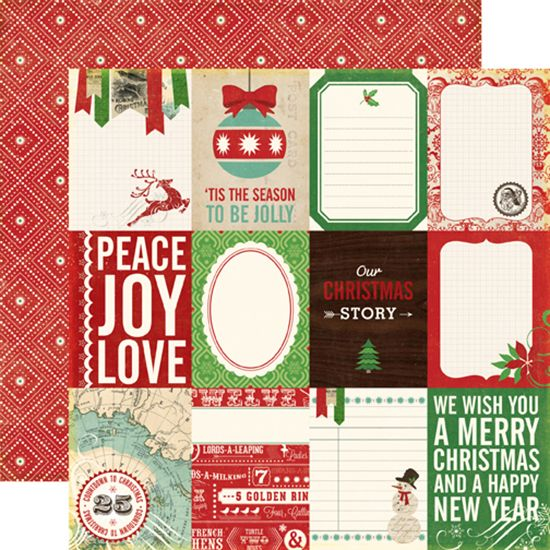 Echo Park - Reflections Collection - Christmas - 12 x 12 Double Sided Paper - Christmas Story at Scrapbook.com