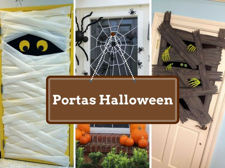 10 Ideias DIY para Decorar portas Halloween - http://decoracao24.com/10-ideias-diy-para-decorar-portas-halloween/