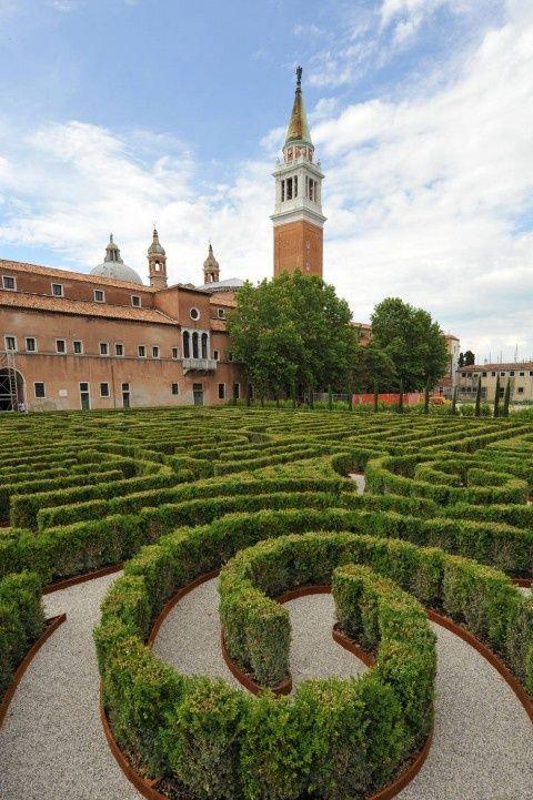 The Borges Labyrinth at Fondazione Cini - Island of San Giorgio Maggiore, Venice -  designed by the British architect Randoll Coate in the writer's honour
