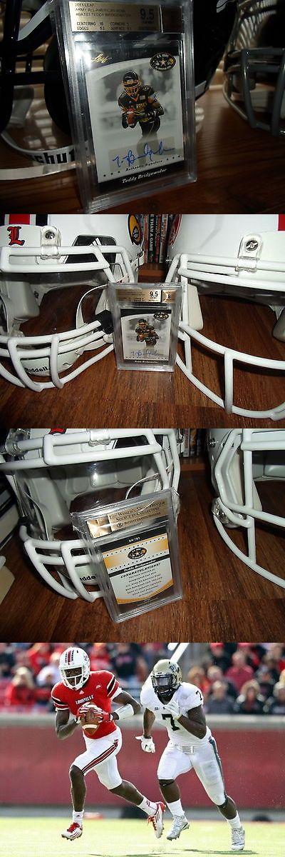 College Cards 133072: Teddy Bridgewater Louisville Cardinals 2011 Leaf Rookie Card Bgs 9.5 Vikings -> BUY IT NOW ONLY: $85 on eBay!