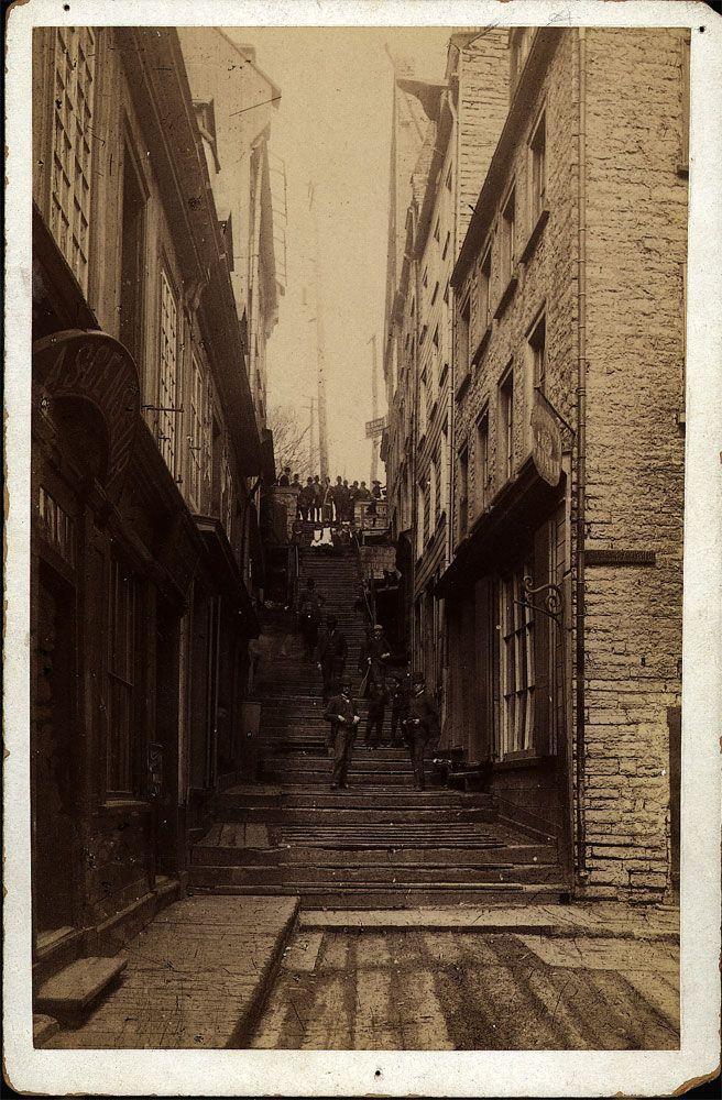 Ville de Québec - Escaliers - Casse-Cou en 1880