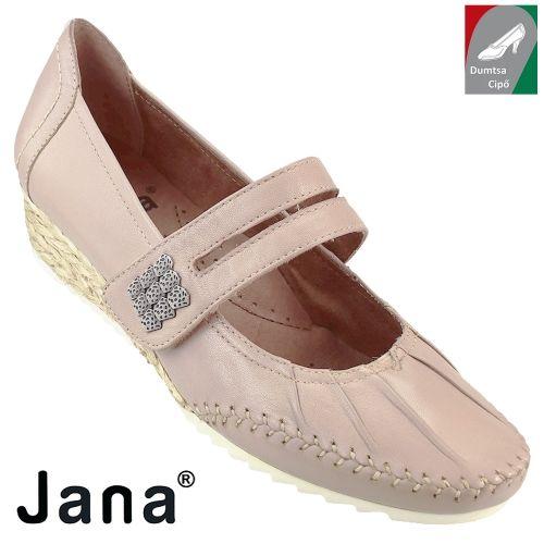 Jana női bőr cipő 8-24311-28 521 rózsaszín