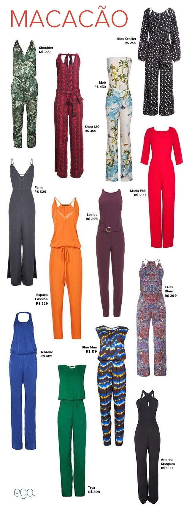 Macacão é aposta fashion da vez: bonito, barato e básico. Inspire-se!