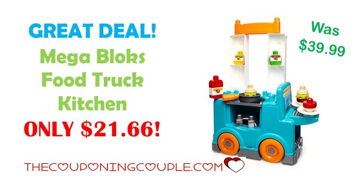 GREAT DEAL! Get this Mega Bloks Food Truck Kitchen for ONLY $21.66 (was $39.99)! This is a great starter set for those little builders.  Click the link below to get all of the details ► http://www.thecouponingcouple.com/mega-bloks-food-truck-kitchen/ #Coupons #Couponing #CouponCommunity  Visit us at http://www.thecouponingcouple.com for more great posts!