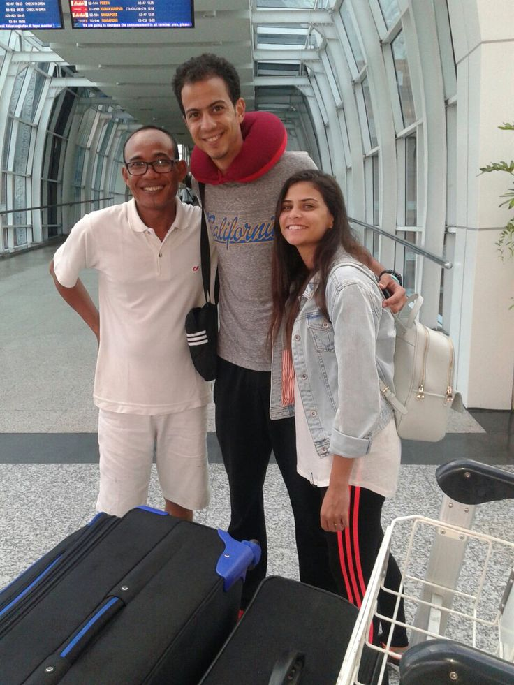 """At the airport with guests from Egypt - """"until we meet next time"""" www.rudisbalitours.com"""
