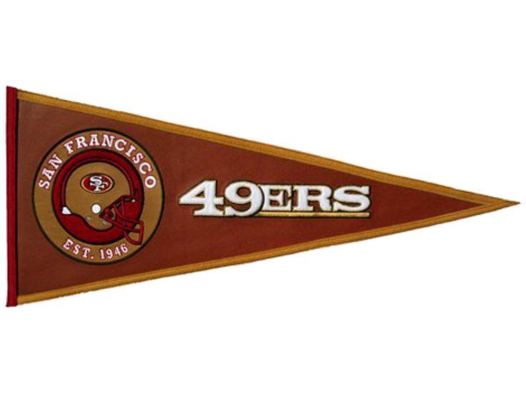 jersey christmas sale san francisco 49ers pigskin winning streak pennant 32