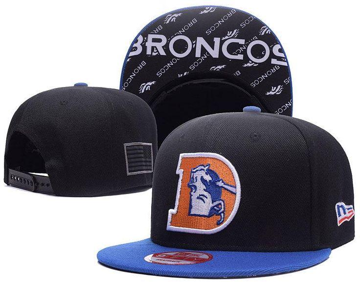 Men's Denver Broncos New Era 9Fifty NFL Crafted in America Throwback Snapback Hat - Black / Blue