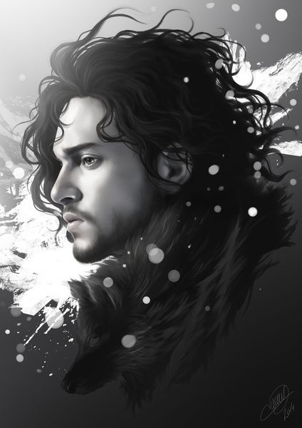 Fantastic Jon Snow Digital Illustrations by Nicolas Jamonneau
