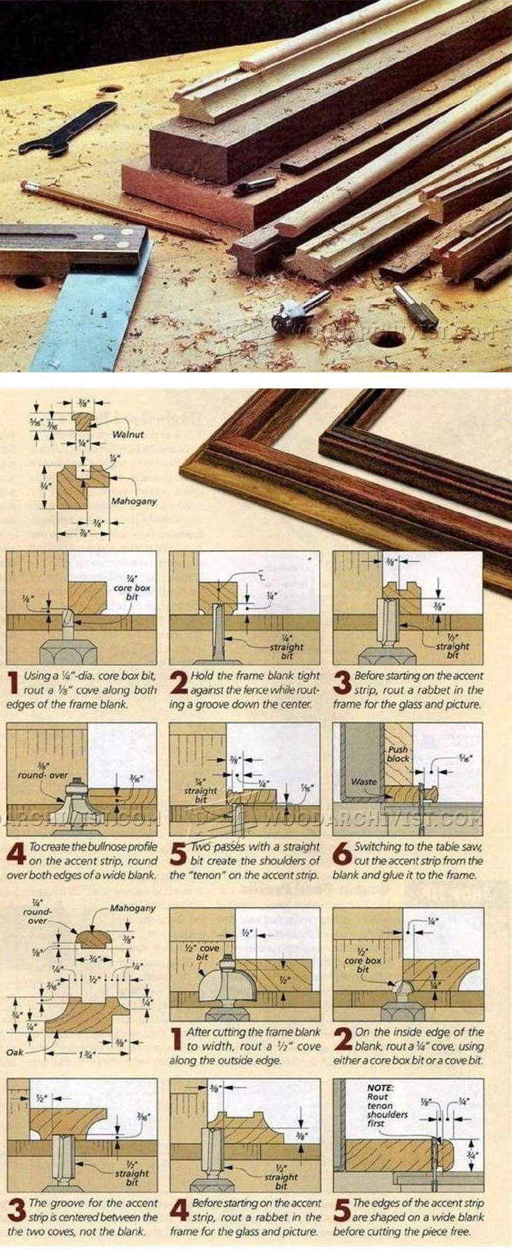 Making Picture Frame Moldings - Woodworking Plans and Projects | WoodArchivist.com