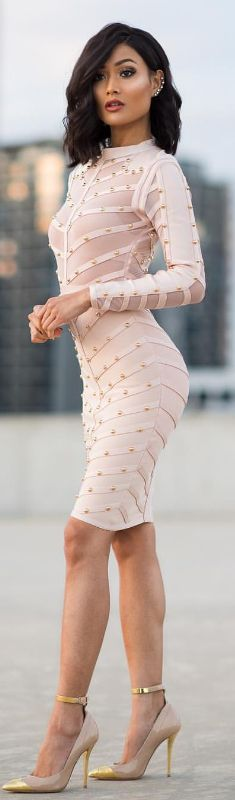 Blush x gold / Fashion Lok by Micah Gianelli #fashion