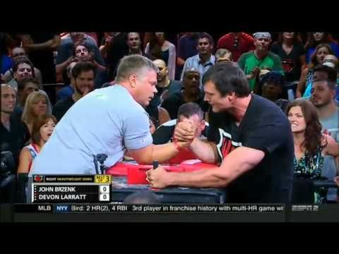 John Brzenk Vs Devon Larratt Heavy weight Arm Wrestling 2015 - YouTube